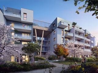 Appartement immobilier neuf pour défiscalisation en loi pinel dans le 44 à Saint Herblain